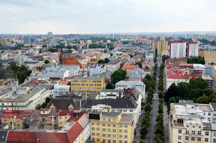 Панорама города Острава 2019