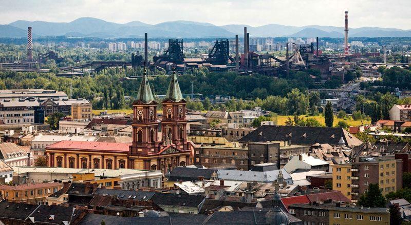 Панорама город Острава