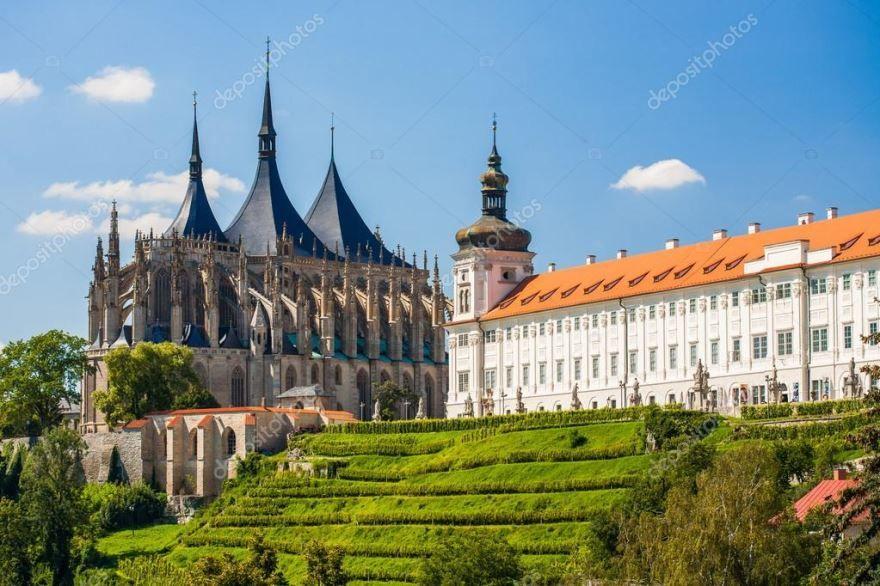 Церковь Святой Варвары город Кутна гора Чехия