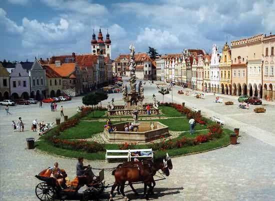 Смотреть красивое фото города Тельч Чехия
