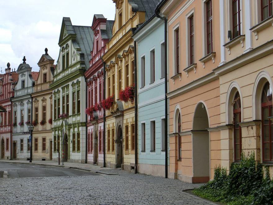 Улица город Градец-Кралове