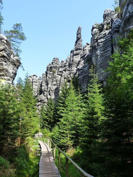 Природа города Теплице Чехия