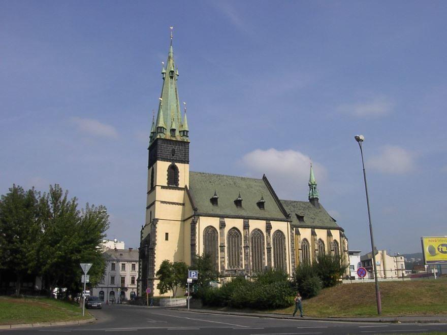 Костел город Усти-над-Лабем Чехия