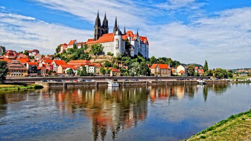 Вид на город Подебрады Чехия
