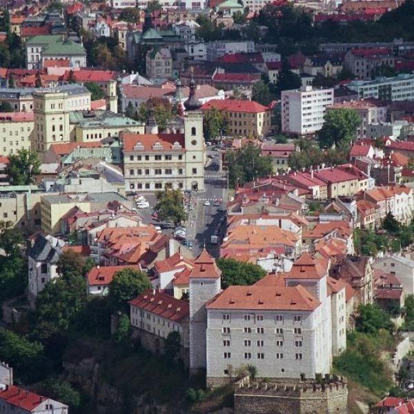 Панорама города Млада-Болеслав Чехия