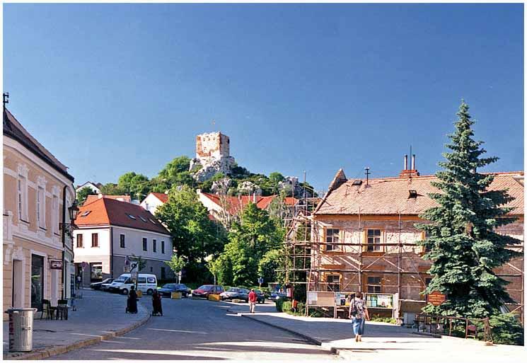 Улица город Микулов Чехия