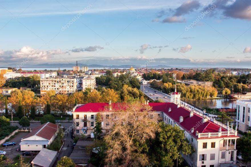 Вид на город Поти Грузия