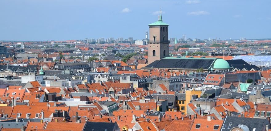 Вид на город Копенгаген Дания
