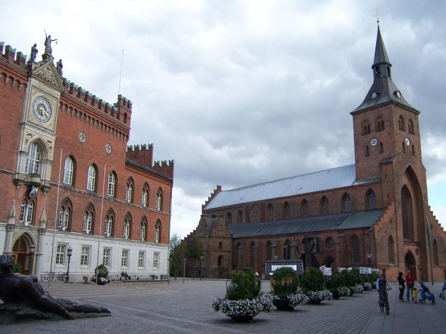 Фото города Оденсе Дания