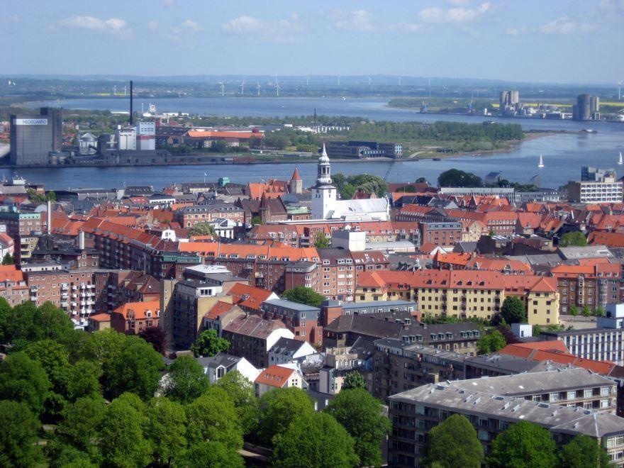 Вид на город Ольборг