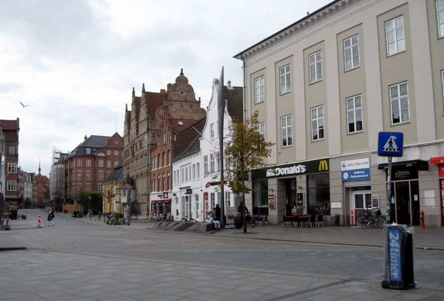 Улица город Ольборг
