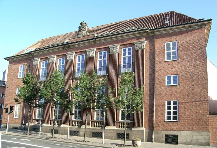Улица город Кольдинг Дания