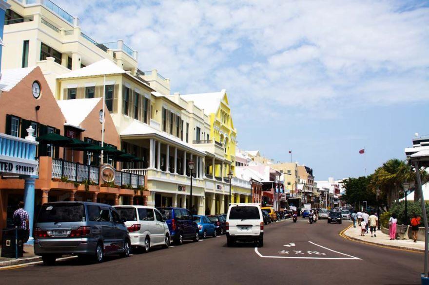 Улица город Гамильтон Бермудские острова