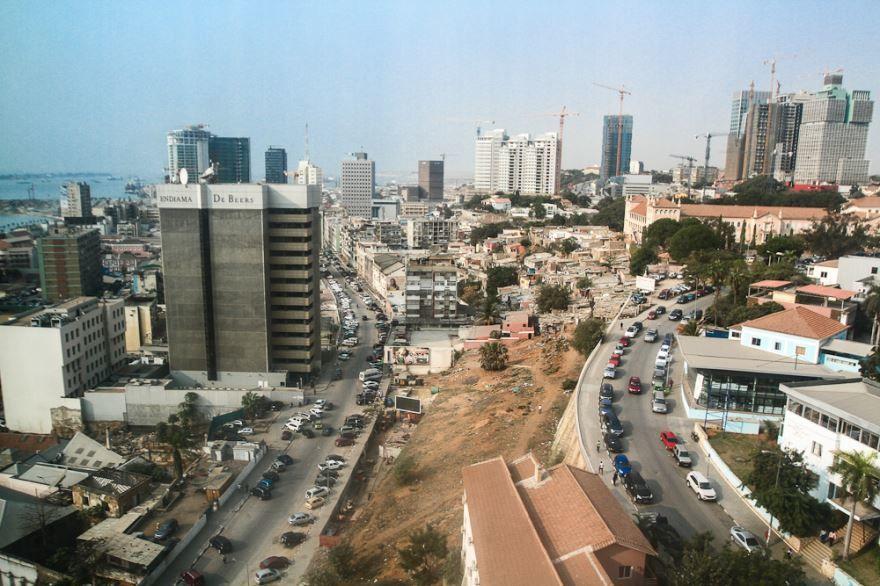 Улица город Луанда Ангола
