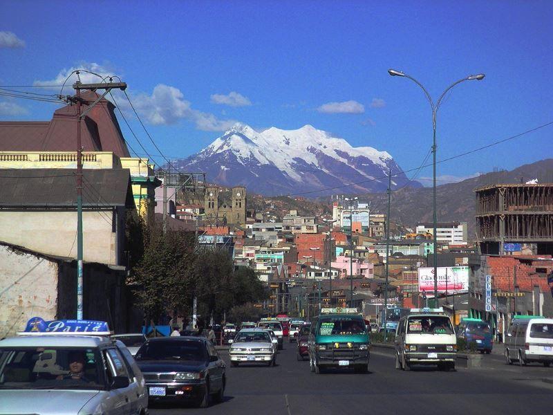 Улица город Ла-Пас