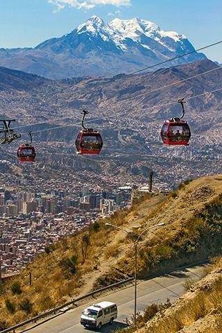 Канатная дорога город Ла-Пас