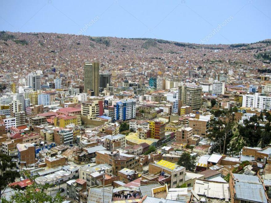 Фото города Ла-Пас Боливия