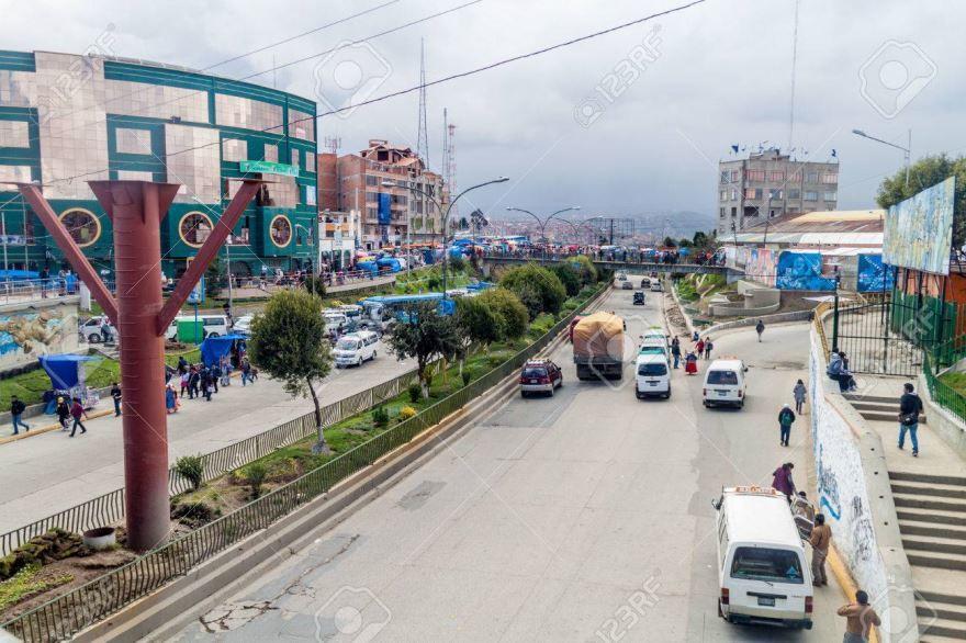 Улица города Эль-Альто Боливия