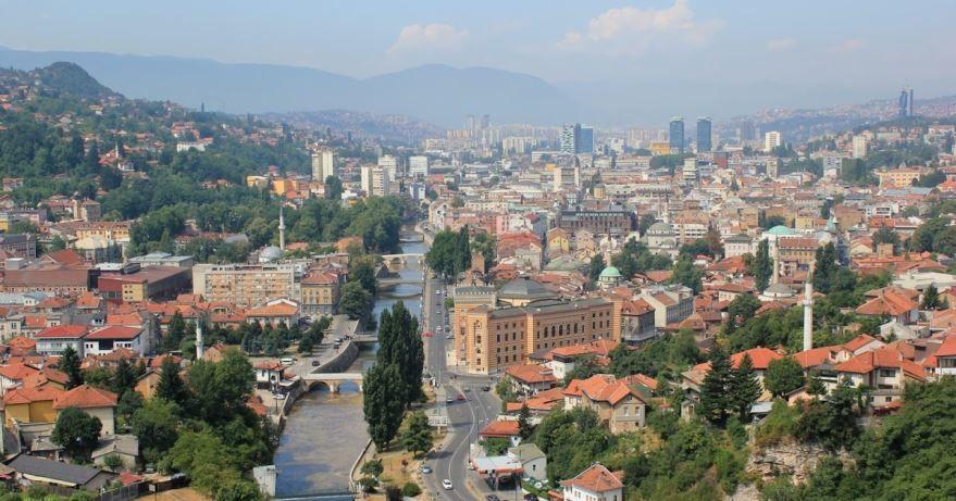 Панорама город Сараево Босния