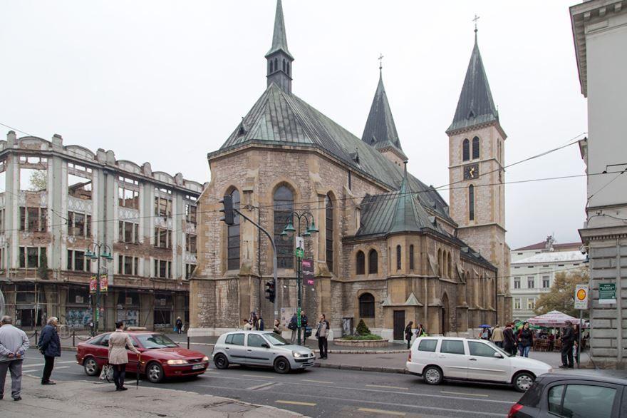 Улица город Сараево Босния