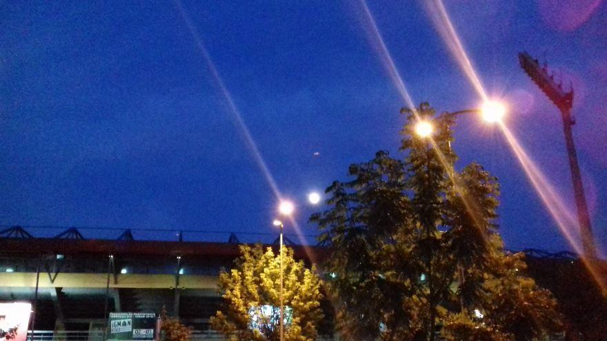 Ночное фото город Зеница Босния