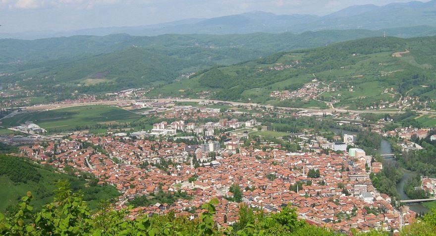 Панорама города Високо Босния