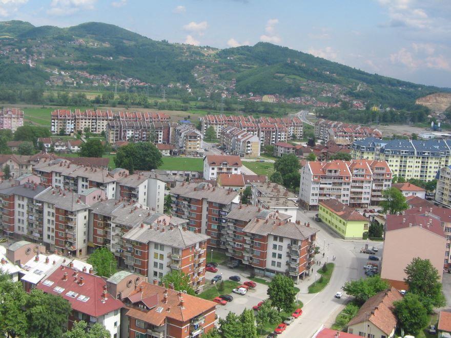 Панорама города Добой Босния