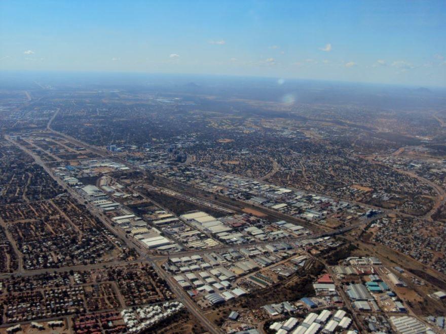 Вид на город Габороне