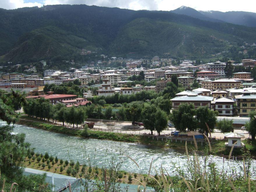 Вид на город Тхимпху Бутан