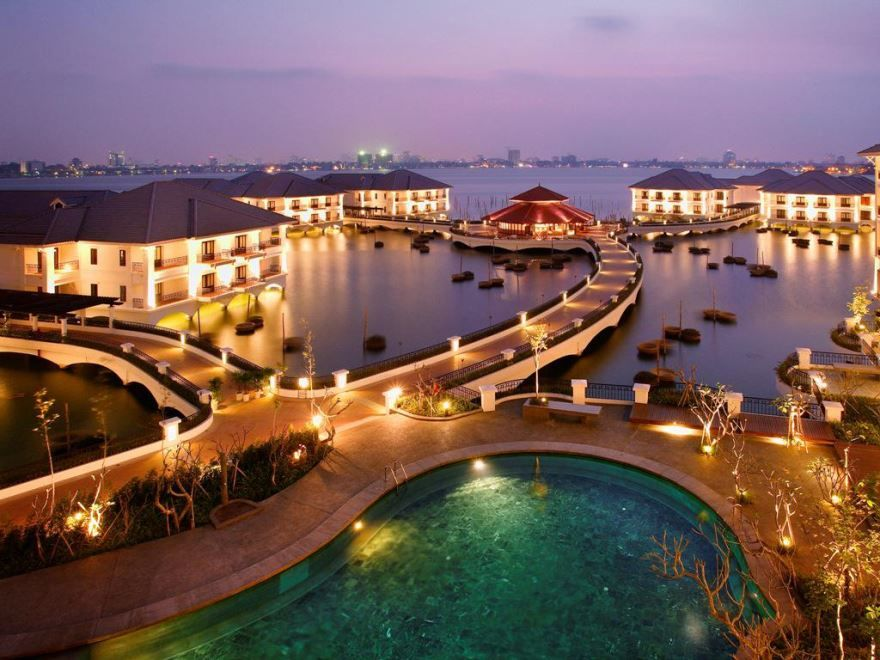 Панорама города Ханой Вьетнам