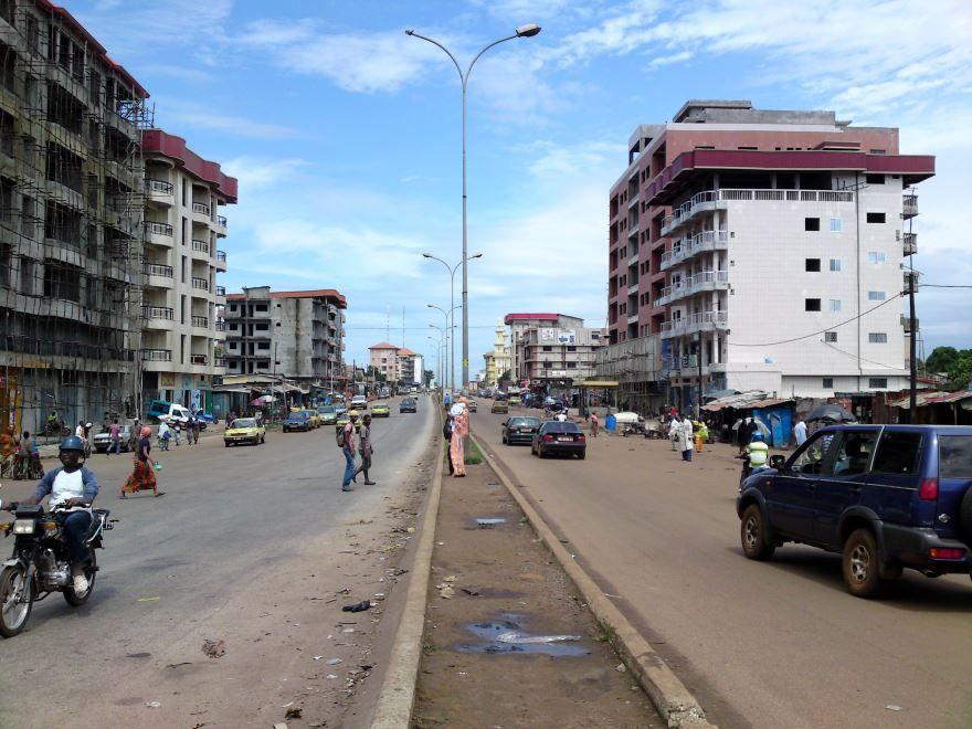 Улица город Конакри