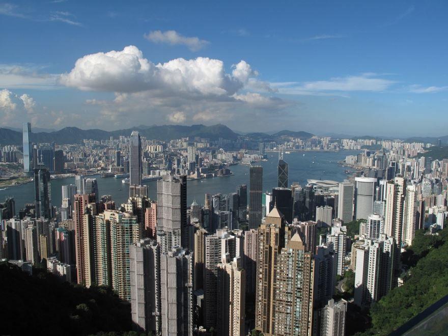 Смотреть красивое фото город Гонконг
