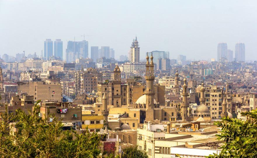 Панорама города Каир Египет