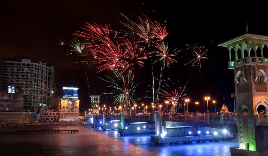 Ночное фото город Александрия