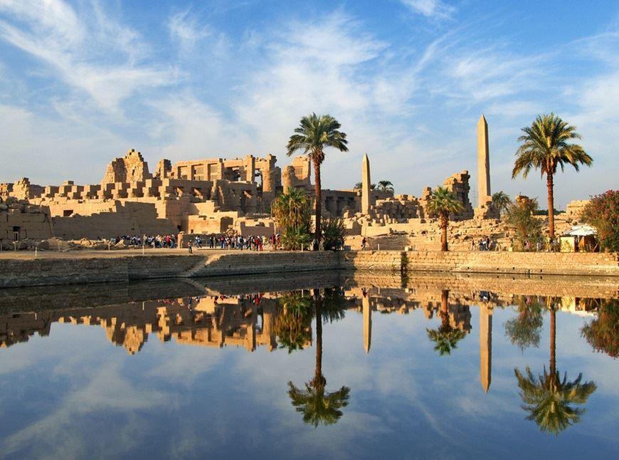Вид на Карнакский храм город Луксор