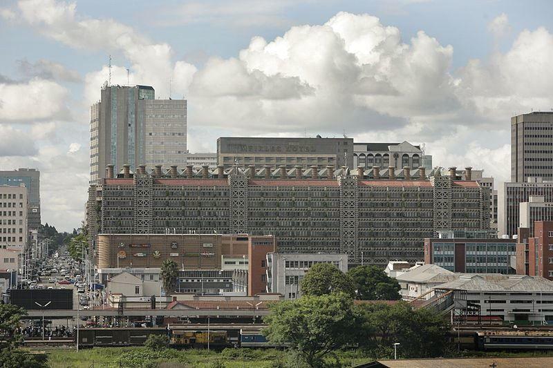 Город Хараре Зимбабве