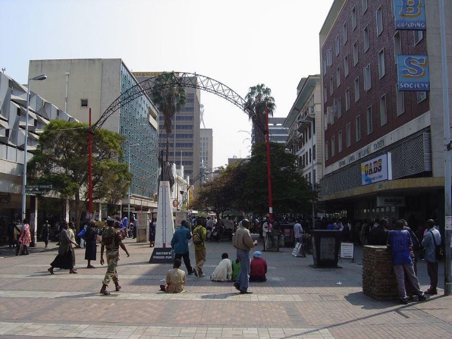 Улица город Хараре