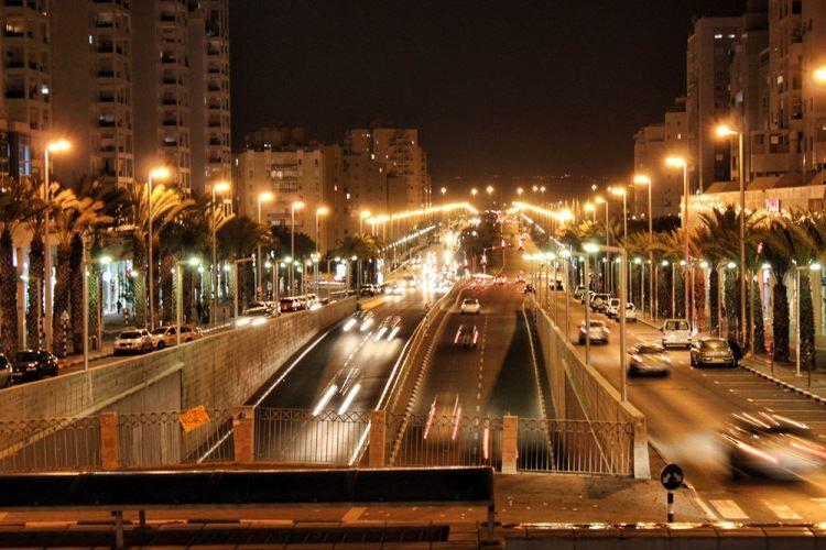 Ночное фото город Ашдод