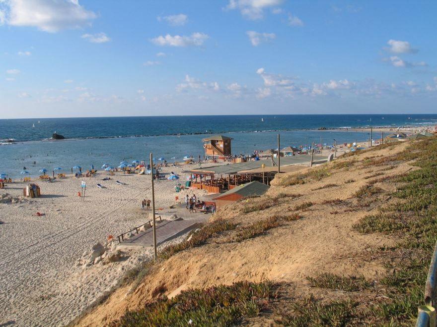 Пляж города Бат-Ям Израиль
