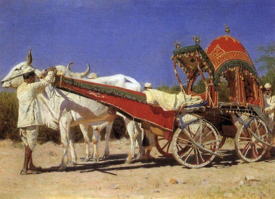 Повозка богатых людей в Дели