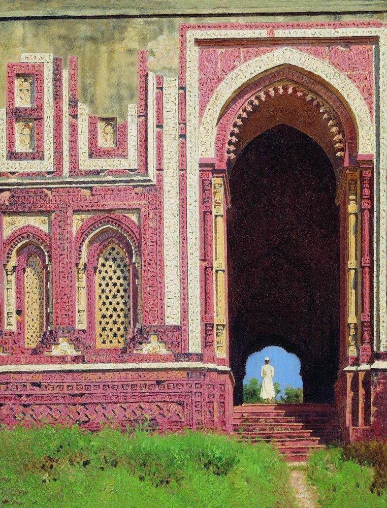 Ворота около Кутуб Минара Старый Дели