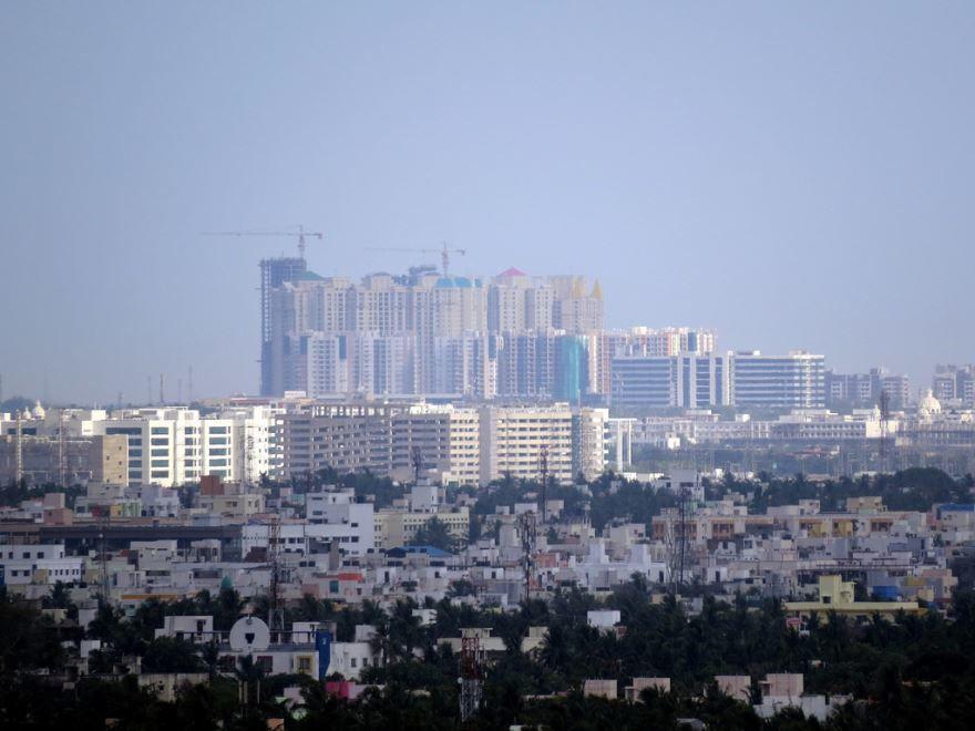 Панорама города Ченнаи Индия