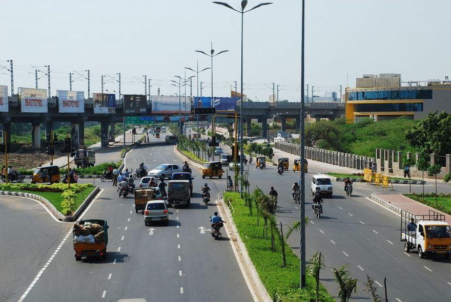 Улица города Ченнаи Индия