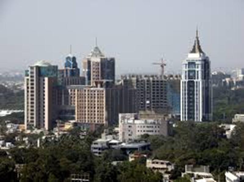 Панорама города Бангалор Индия