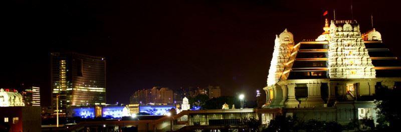Ночное фото город Бангалор Индия