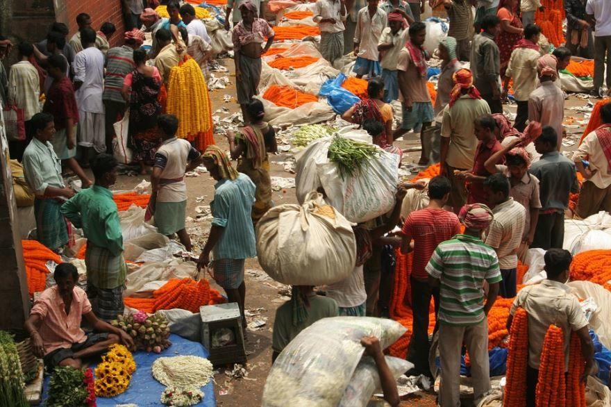 Рынок город Калькутта