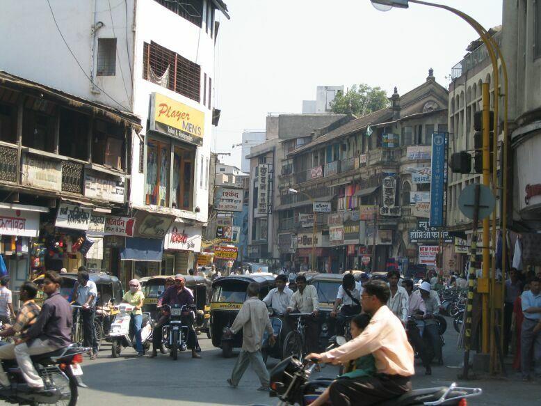 Улица город Пуна Индия