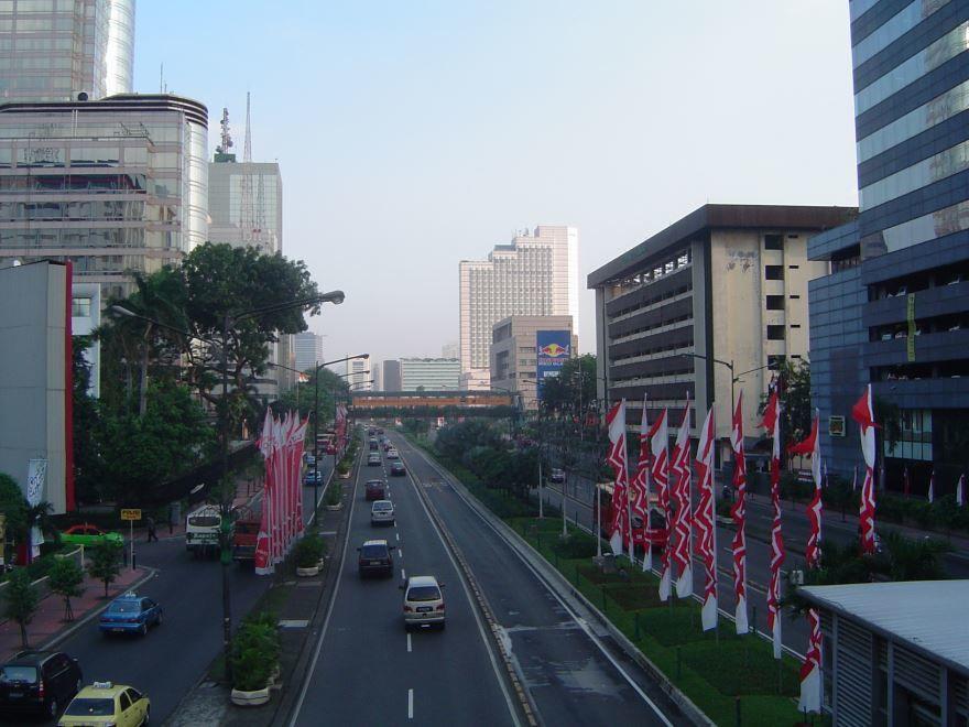 Вид на город Джакарта Индонезия