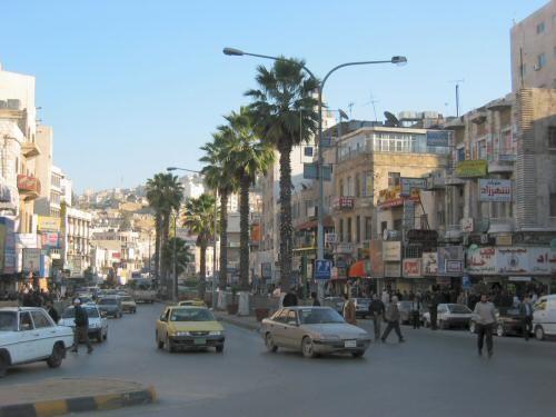 Улица города Амман Иордания