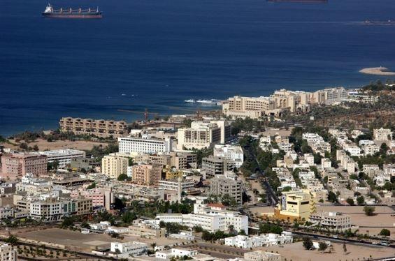 Вид на город Акаба